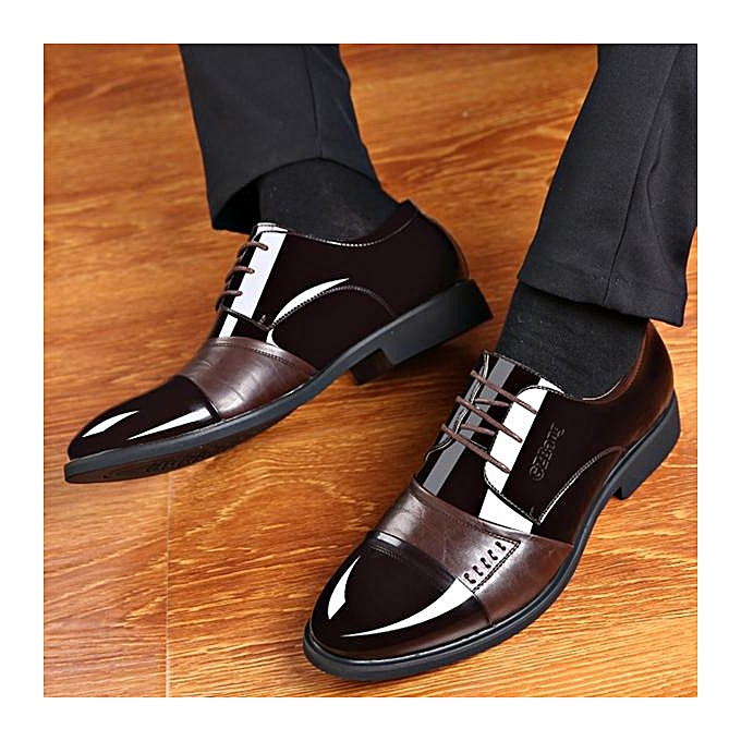 Fashion Fashion Men Pointed Toe Classic Lace Up Formal Dress chaussures-EU à prix pas cher    Jumia Maroc