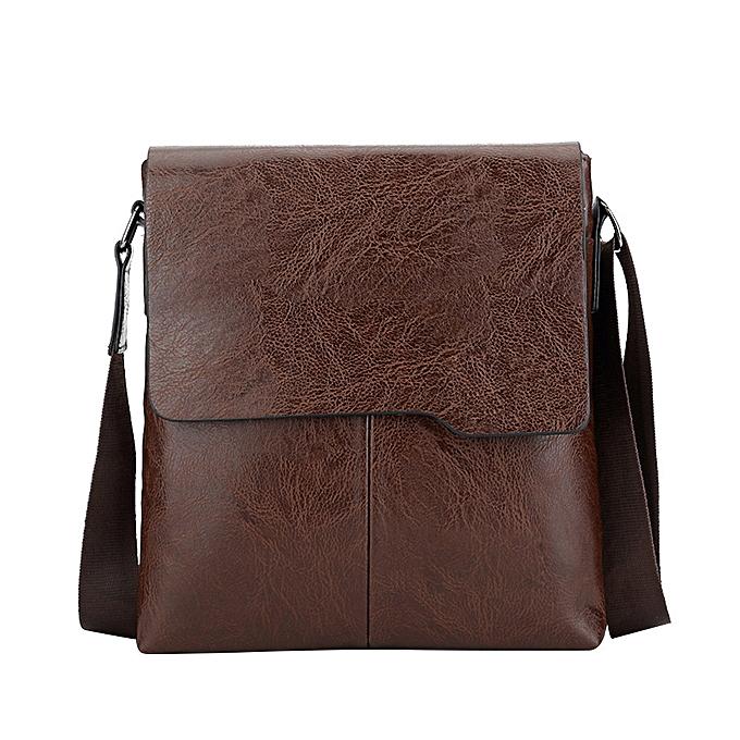 Fashion jiahsyc store Famous Brand New Fashion Man Leather Messenger Bag Male Cross Body Shoulder bag-marron à prix pas cher