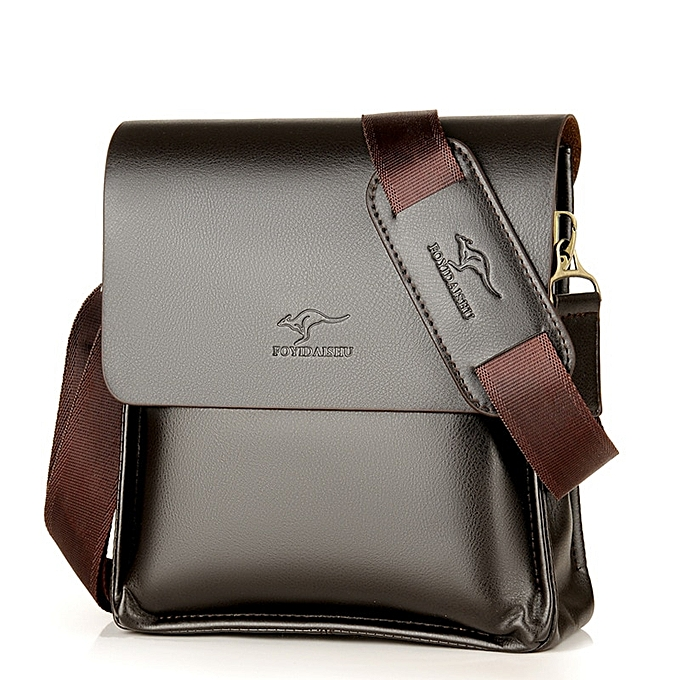 Other kangaroo Men Bag Fashion pu Leather Crossbody Bag Shoulder Men Messenger Bags vintage Casual Designer Handbags Man Bags(marron Small) à prix pas cher