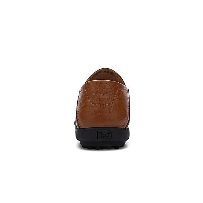 Fashion  s Soft Leather Leather Soft Loafer Driving Shoes Plus Size-Brown à prix pas cher  | Jumia Maroc a34b80