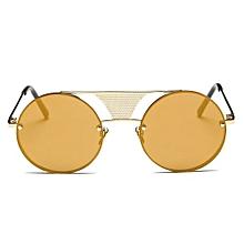3a0515a133574d Fashion Men Women Steampunk Round Mirror Sunglasses Unisex Glasses