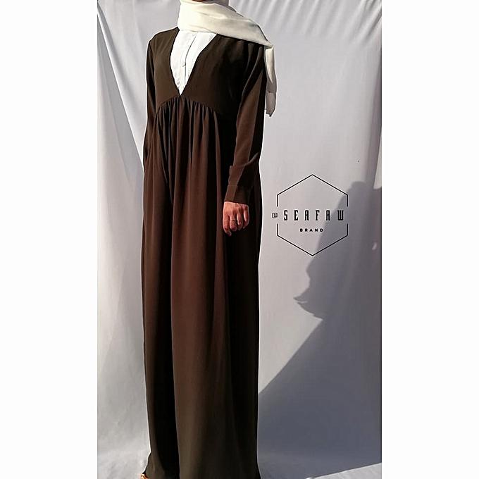 Seafaw brand Robe longue -  vert khaki à prix pas cher