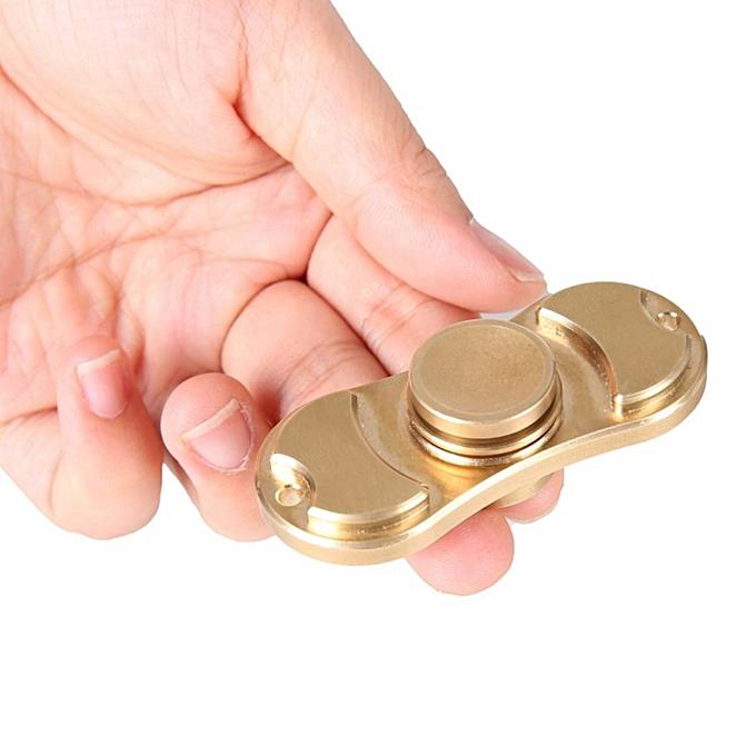 UNIVERSAL Hand Fidget EDC Spinner Focus Toy Brass Copper Cube Tri-Spinner For Enfants Adults à prix pas cher