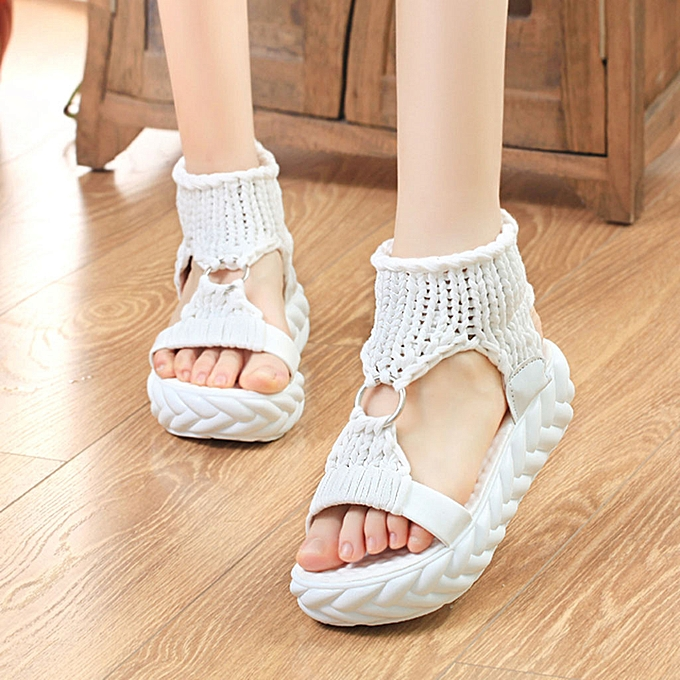 Fashion (Xiuxingzi) femmes Ladies Summer Fashion Platform Sandals Comfort Big Taille Casual chaussures à prix pas cher