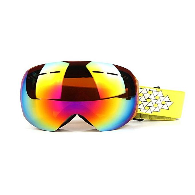 Generic Home-Unisex Frameless Ski Goggles Double-layerouge Fog-proof Windproof Eyewear HX002oren à prix pas cher