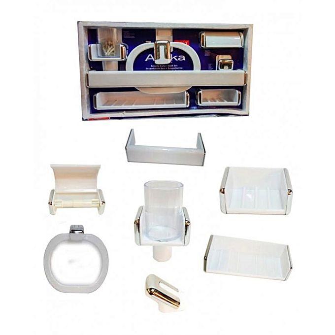 Kit des accessoires de salle de bain de 7 pcs mobilier for Kit deco salle de bain
