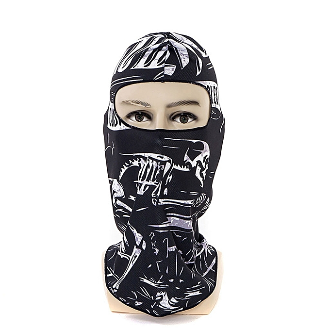 Autre 3D Printed Balaclava Motorcycle Full Face Mask Hat Helmet Windproof Breathable Airsoft Paintball Snowboard Ski Shield Anti UV 30( L) à prix pas cher
