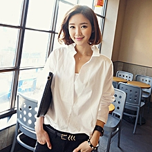 05719df40e0d Deep-V Neck Women Long Section Long-Sleeved Bottoming Shirt Lace Stitching  Shirt