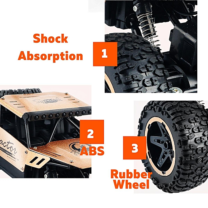 OEM 48KM H RC Truck 4WD Off-Road 1 16 Vehicle 2.4GHz Remote Control Climbing voiture To à prix pas cher