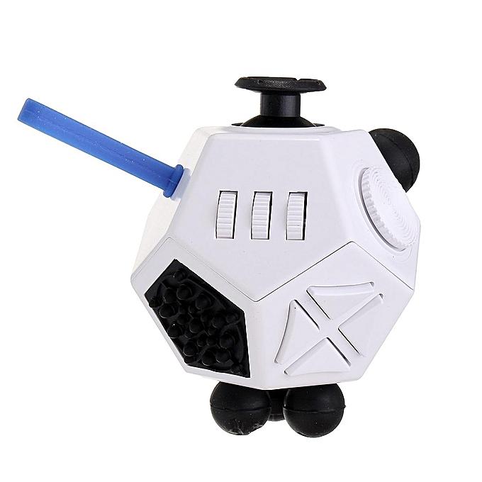 UNIVERSAL Mini Decompression Magic Cube 12 Side Fidget Autism Enfants Boy Girl Toy à prix pas cher