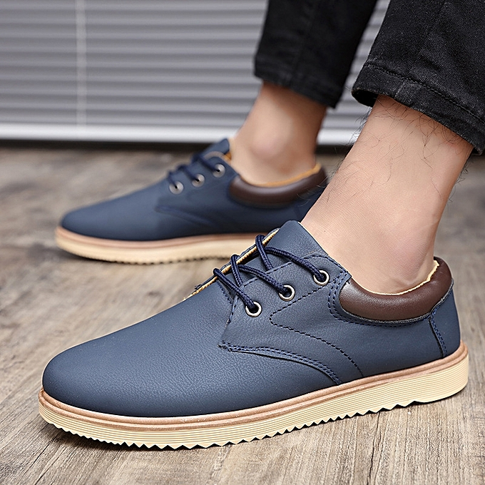OEM New hommes chaussures Korean chaussures trend low to help young hommes chaussures hommes casual sports increased single chaussures-bleu à prix pas cher