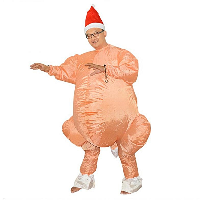UNIVERSAL drôle Inflatable FonctionneHommest Turkey Party Costume Adult Cosplay Photograph Prop+ Hat à prix pas cher