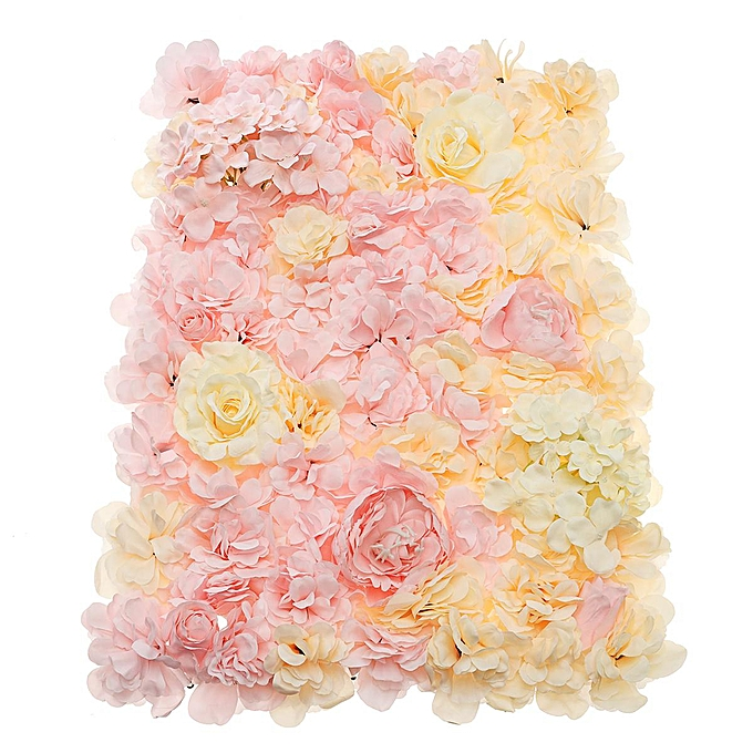 OEM Rohommetique artificielle graduelle rose fleur panneaux de mur décor de lieu de fête de mariage à prix pas cher