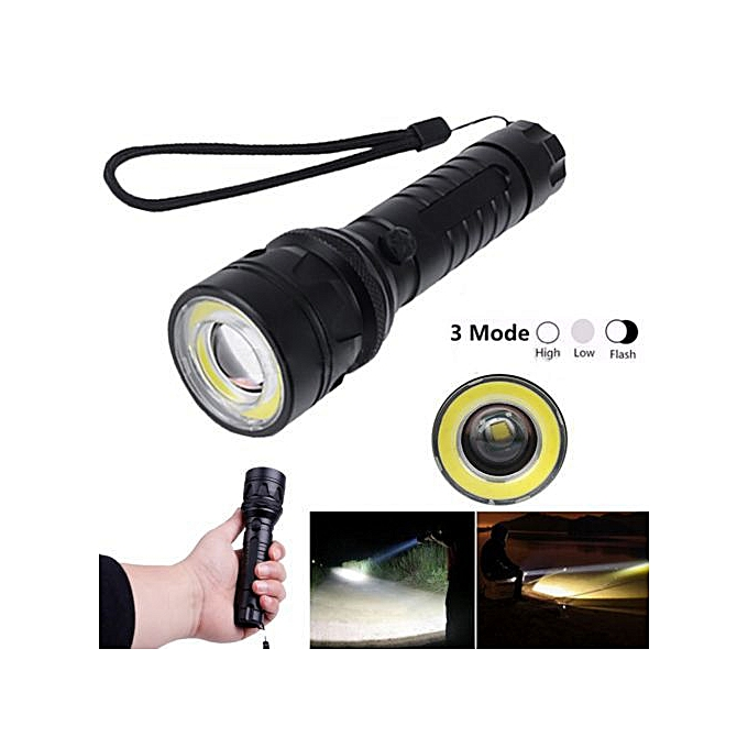 Generic Elfeland 15000Lm T6 + COB LED Flashlight Torch Light Super Bright & Charger SET à prix pas cher