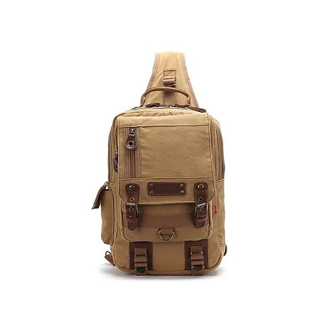 Fashion Male Casual Travel Larger Sling Chest pack Bag Men's Canvas Messenger Chest à prix pas cher