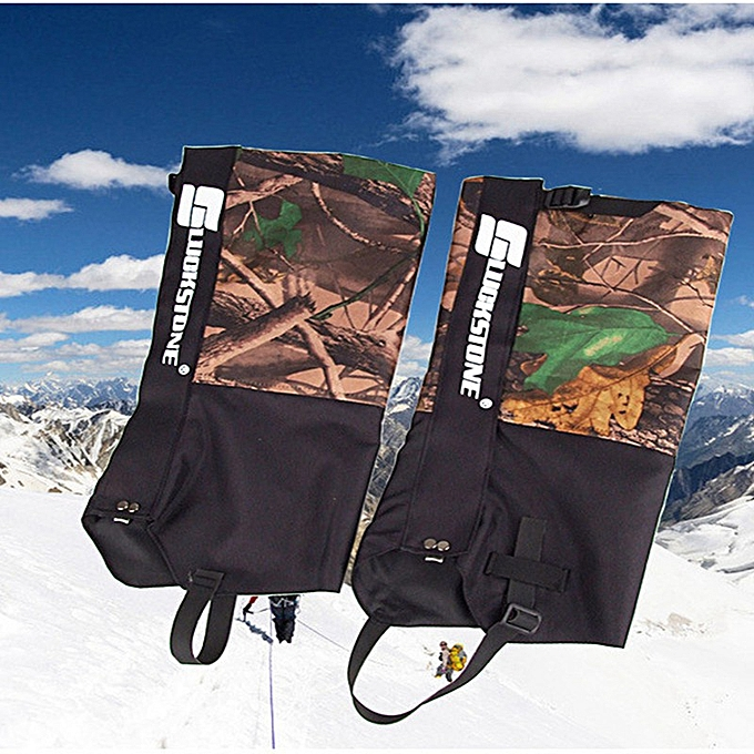 AONIJIE Double Layer Waterproof Hunting Walking Climbing Legging prougeect Snow Gaiters Camouflage(jaune) à prix pas cher