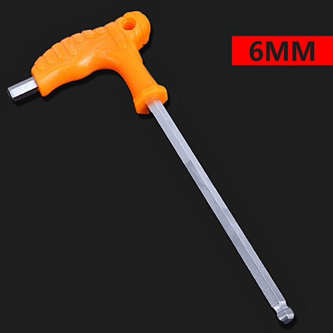 Autre 2.5mm 3mm 4mm 5mm 6mm 8mm High-carbon Steel Inner Hexagon Wrench T Handle Allen Hex Key Wrench Spanner Repair Tool(6mm) à prix pas cher