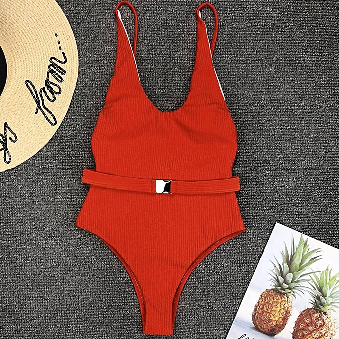 Autre In-X Buckle blanc bodysuit Push up bikini High cut one piece maillot de bain female Padded maillot de bain nouveau bathing suit(1163-5) à prix pas cher