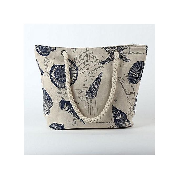Eissely Wohommes Beach Printing Shoulder Bags Capacity femmes Canvas Bags C à prix pas cher
