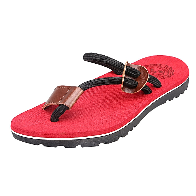 Fashion (Xiuxingzi) Men's Fashion Casual Flat Flip Flops Slippers Beach chaussures Outdoor Antiskid chaussures à prix pas cher