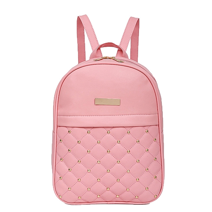 mode Tcetoctre femmes Rivet sac à dos mode Causal sacs Bead Female Shoulder sac sac à doss PK-rose à prix pas cher