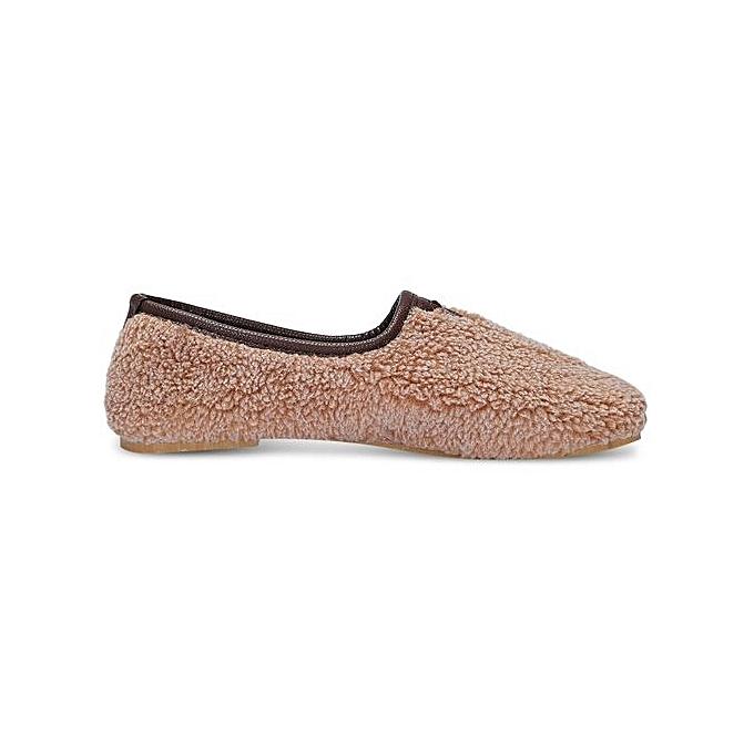 Fashion Stylish Round Toe Fleece Slip-on Flat Heel WoHommes WoHommes Heel  Shoes à prix pas cher    Jumia Maroc 273889
