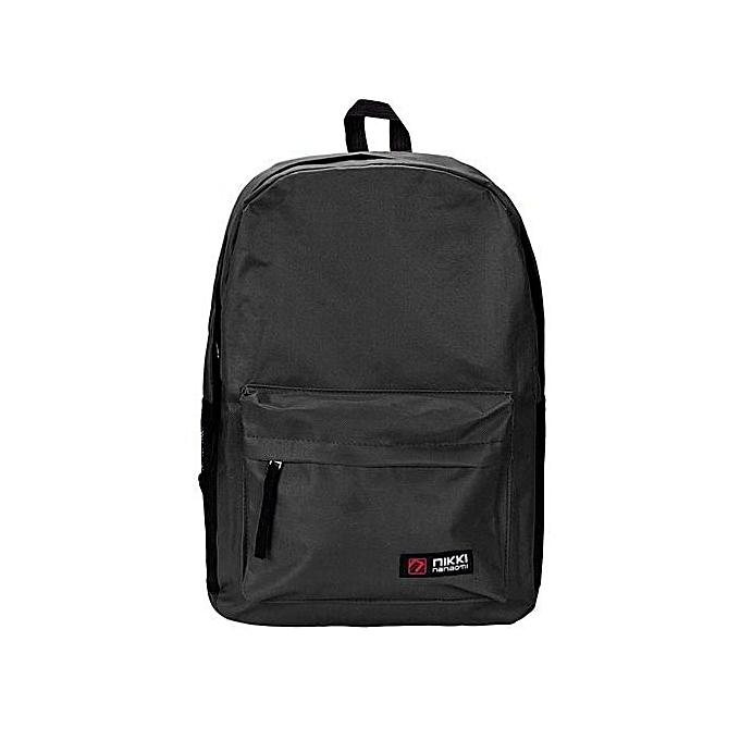 mode Xiuxingzi femmes Hommes Student  sac à dos School Shoulder sac à dos  Handle sac noir à prix pas cher