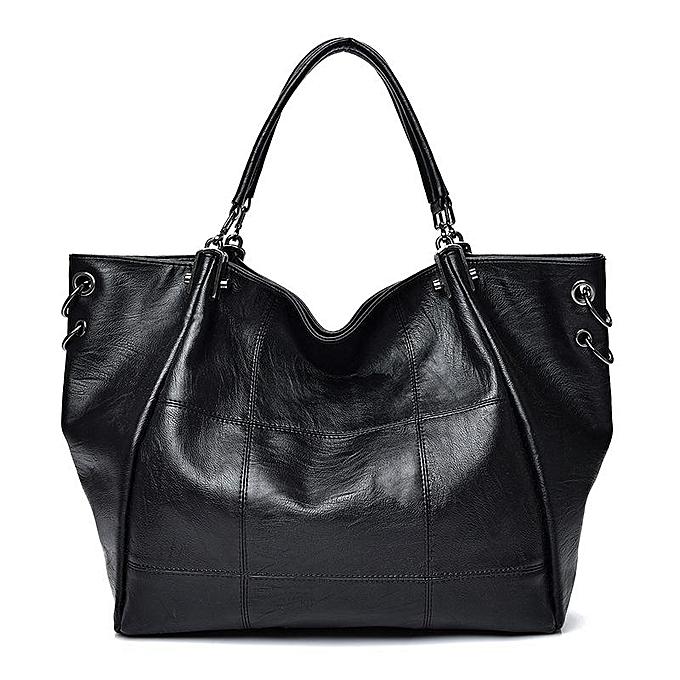 Fashion femmes Retro Large Capacity PU Leather Handbag Shoulder Bag Crossbody Bag à prix pas cher