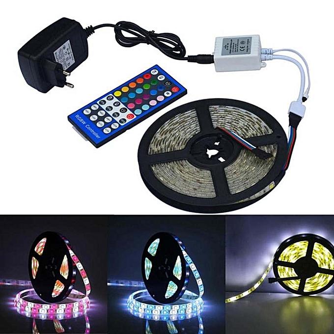 OEM New arrivel Jiawen Waterproof 5m 5050 RGBW LED Light Strip + Remote Controller + 12V 2A Power Supply RGB + blanc Indoor for Decoration à prix pas cher