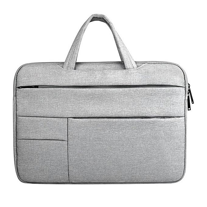Generic portable Laptop sac Multifunctional Computer Sleeve Solid Notebook sac heather gris à prix pas cher