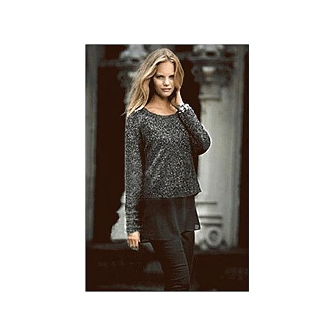 Sunweb mode femmes& 039;s manche longue False Two Piece Spbague Knitwear Top chemisier à prix pas cher