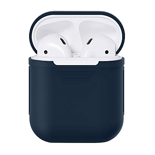 For AirPods Silicone Case Protective Cover Skin Accessories for Apple  Airpods Charging Case , Navy Blue