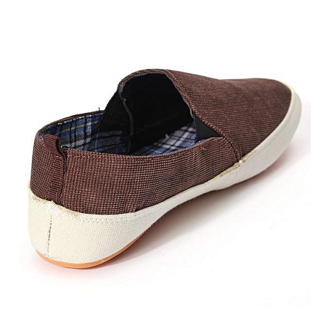 Fashion Britsh  's Casual On Canvas Sneakers Slip On Casual Loafer Moccasin Zapato Breathe Shoes-EU à prix pas cher  | Jumia Maroc 51943b