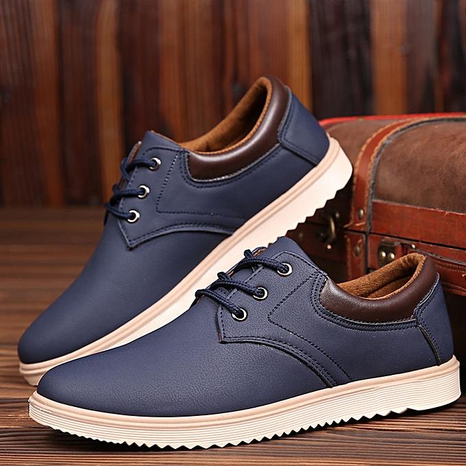 Other nouveau mode Spbague 2019 Youth Tidal Leisure chaussures Hommes's Slip-proof imperméable vêtehommests de travail cuir-noir à prix pas cher