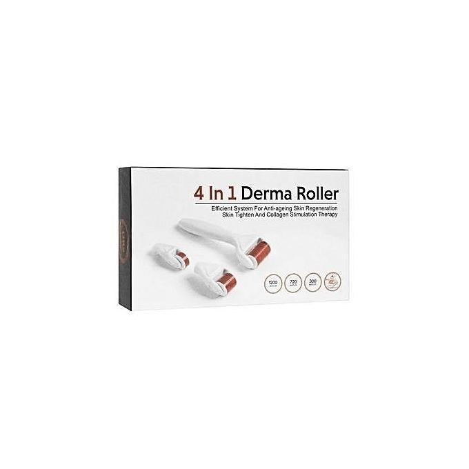 derma roller derma roller system avec des aiguilles de titanium 4 in 1 appareil soin visage. Black Bedroom Furniture Sets. Home Design Ideas