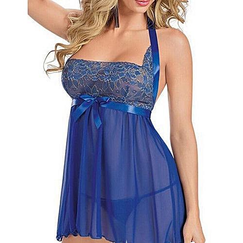Sunshine Lingerie Sexy Pour Femmes Bleu Pas Cher Jumia Ma