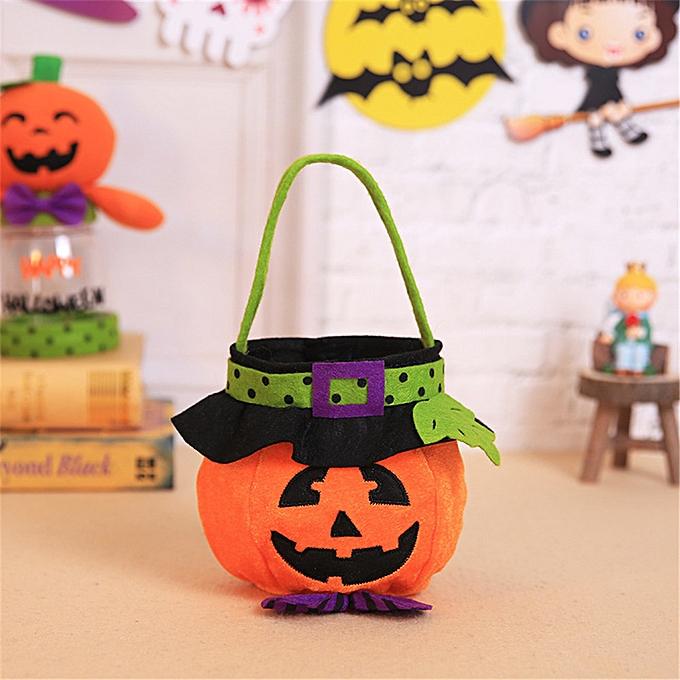 UNIVERSAL HalFaibleeen Hand sac Witch Pumpkin sac Cosplay Costumes Candy sac Decoration Toys-C à prix pas cher