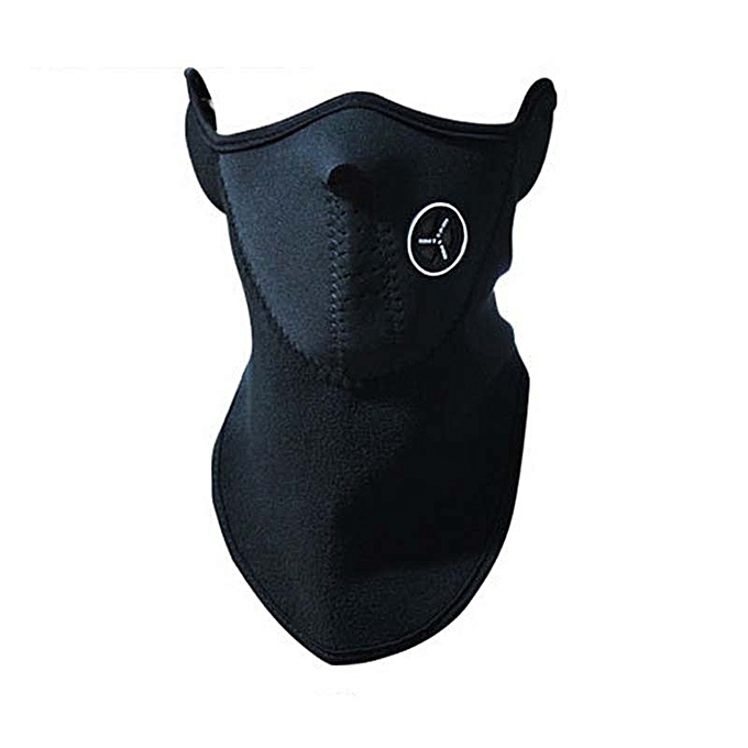 Autre Motorcycle Face Mask Cover Windproof Ski Mask Snow Moto Half Face Neck Care Guard Scarf Warm Winter Warm Prougeecting Face Shield( noir) à prix pas cher