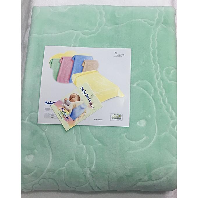 Generic Couverture bébé PERLA vert 110x140 cm vert Pistache à prix pas cher