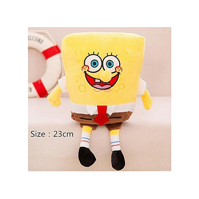 Autre sponge bob 20cm spongebob plush toy soft anime cosplay doll for Enfants toys voituretoon figure cushion home decoration cute dolls toy(23 cm sponge bob) à prix pas cher