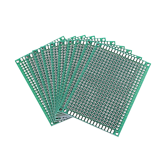 UNIVERSAL Geekcreit® 30pcs 50x70mm FR-4 2.54mm Double Side Prougeotype PCB Printed Circuit Board à prix pas cher
