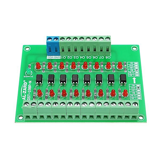 UNIVERSAL 24V to 5V 8 Channel Optocoupler Isolation Board Isolated Module PLC Signal Level Voltage Converter Board 4Bit à prix pas cher