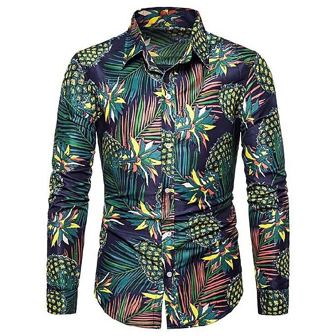 Fashion Fashion new trend hommes long-sleeved shirt—Dark vert à prix pas cher
