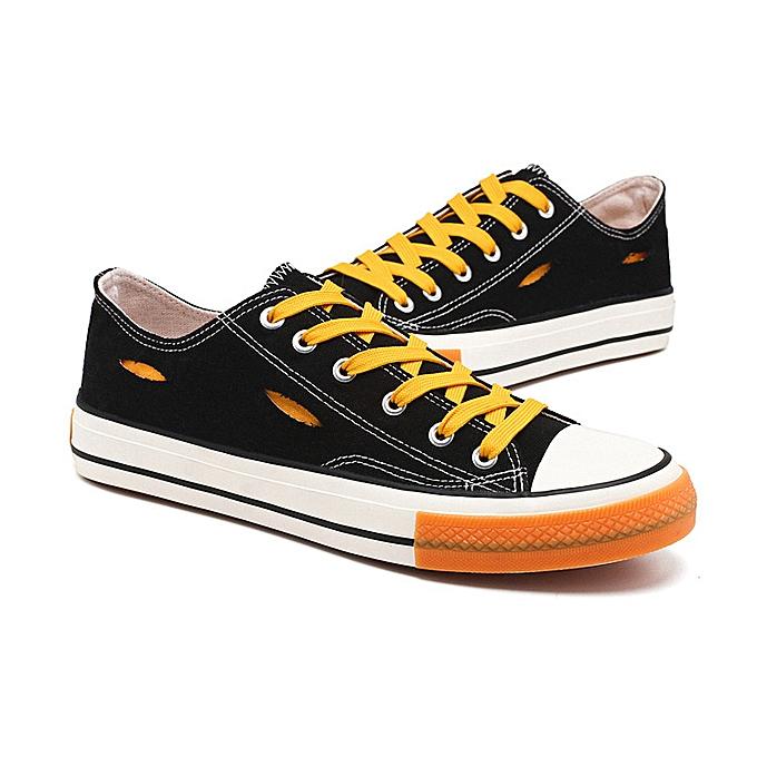 Fashion Men's canvas breathable casual chaussures -low jaune à prix pas cher    Jumia Maroc