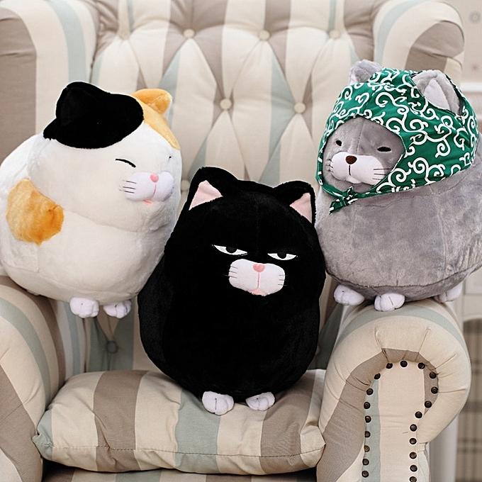 Autre 1PCS 30CM 40CM cute cat plush doll, simulation cat plush toys, creative cat plush toys, kids toy, free shipping (noir) à prix pas cher