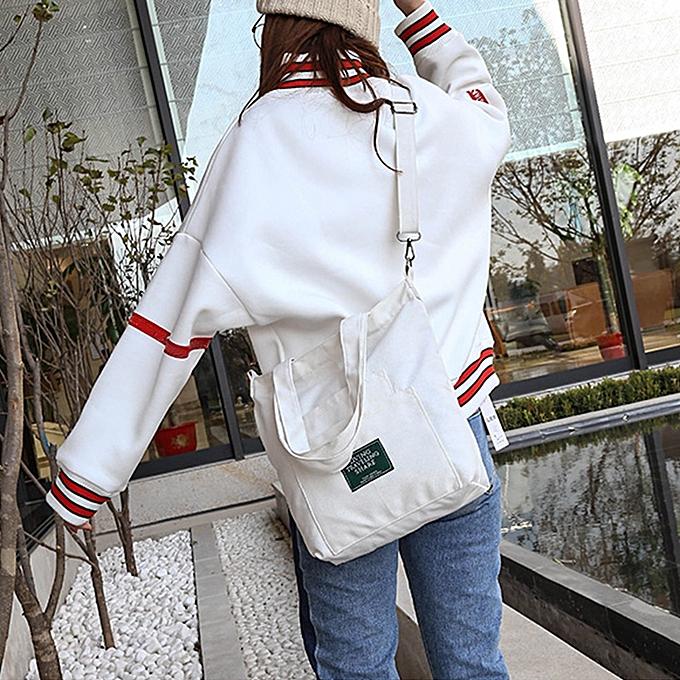 Generic Wohommes mode Solid toile bandoulière Shoulder sacs grand Totes WH à prix pas cher