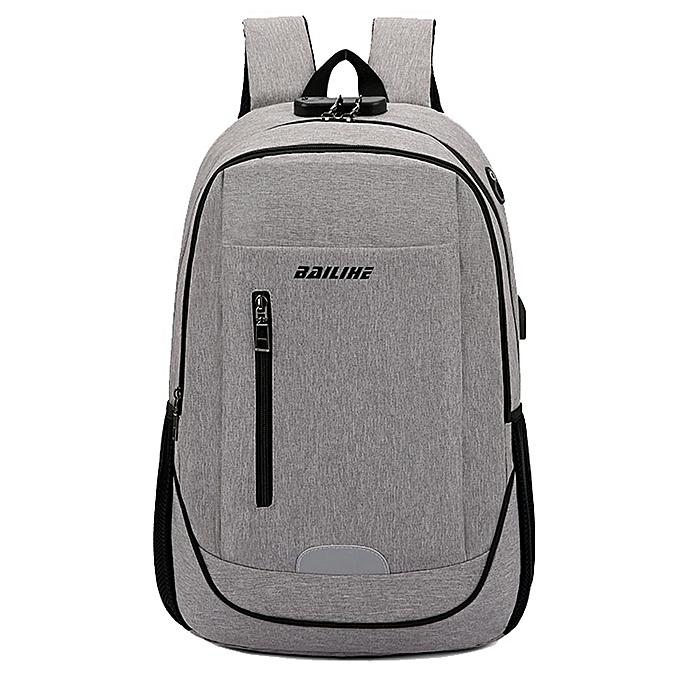 Fashion Men Business USB Charging Backpack Large Capacity Travel Business Password Tote à prix pas cher