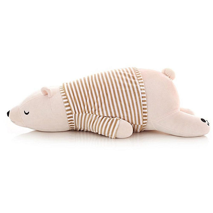 Autre Valentines Day Gift   Toys Stuffed Animals nouveau Polar Bear Plush Toy Doll Soft Plush Doll Cushion Cute Cuddle Bed PilFaible(blanc) à prix pas cher
