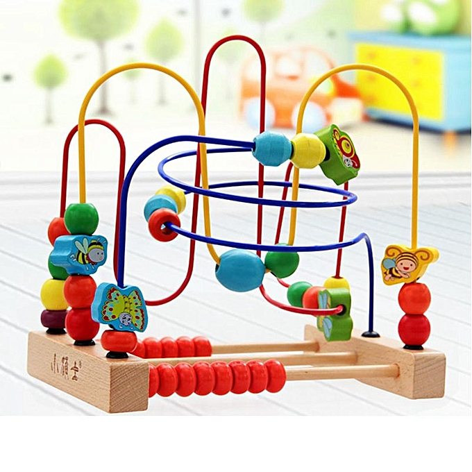 OEM Couleurful Fruit Beech bois Around Maze Wire Blocks Enfants Intelligence Toy Gift An à prix pas cher