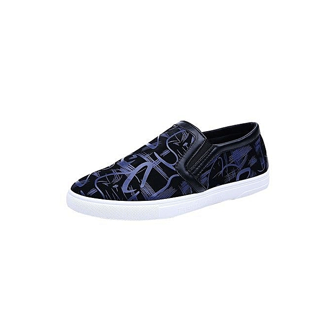 Eissely Fashion Men Printed Comfortable Casual Soft chaussures Low-top chaussures BU 39-bleu_CN Taille à prix pas cher    Jumia Maroc